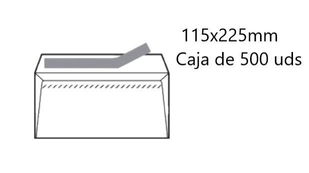 SOBRE OPEN-12235 PEFC 500UD 123x235mm AMERICANO