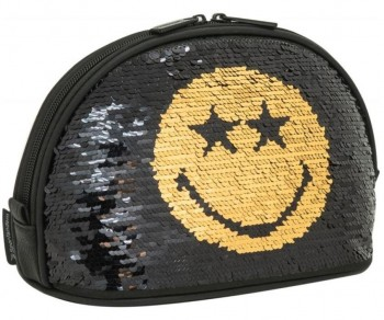 NECESER SMILEY SEQUIN MOON GOLD