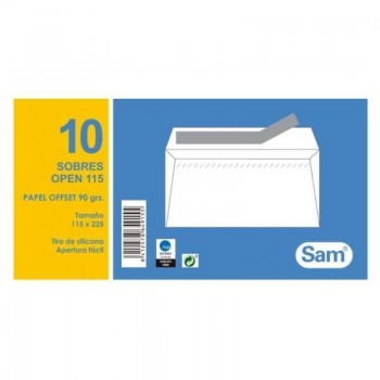 SOBRE 115X225  PAQ-10 UNIDADES  SAM