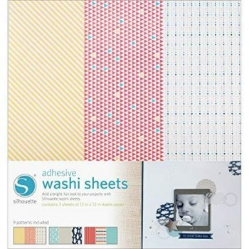 PACK LAMINAS WASHI SHEET SILHOUETTE