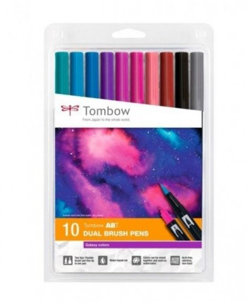 SET ABT DUAL BRUSH TOMBOW 10 COLORES GALAXY
