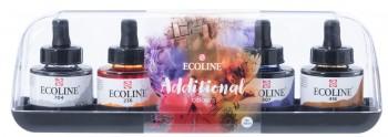 ACUARELA LIQUIDA ECOLINE FRASCO 30ML BOX 5 ADDITIONAL COLOURS